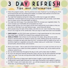 3 day refresh tips