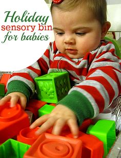 Christmas sensory bin for babies