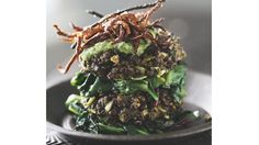 Lentil Cakes with Pesto, Wilted Greens & Lemon Thyme Zucchini Fries | Recipe | Fox News