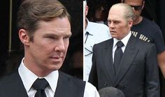 Balding, fat Johnny Depp gets into character on Black Mass set with Benedict Cumberbatch