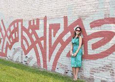Red Geometric Wall Mural Avondale