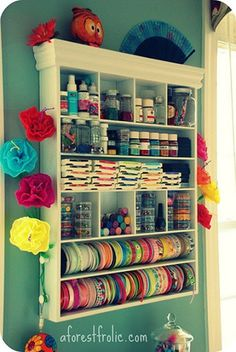 organizing craft supplies in a small space | ... In The Thrifty Lane: Friday Night Finds: Craft Room Storage and Ideas