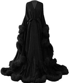 Fancy Robes, Cool Outfits, Fashion Outfits, Fashion Goth, Fashion Women, Lingerie Outfits, Bridal Robes, Aesthetic Clothes, Night Gown