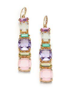 ABS by Allen Schwartz Jewelry - Cushion & Baguette Drop Earrings - Saks.com