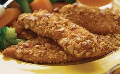 Weight Watchers Recipes With Points, Weight Watchers Almond Crusted Chicken Fingers Recipe To Help With Your Diet Plan. Weight Watchers Almond Crusted Chicken Fingers Recipe And Only 4 Points Plus. Almond Crusted Chicken, Almond Chicken, Yogurt Chicken, Diabetic Recipes, Healthy Recipes, Healthy Meals, Ww Recipes, Healthy Chicken, Pork Recipes