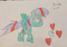 Bubbly love is a lovable Pegasus who is ALOT like Derpy hooves.. Actually there related.. 20 bits to adopt.