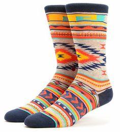 Stance Girls Tribute Native Print Crew Socks at Zumiez : PDP