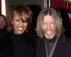 Iman and her husband David Bowie pose for photographers as they enter the Ziegfeld Theater in New York City in this February 5, 2001 file photo. Singer Bowie has died after an 18-month battle with cancer, his official Twitter account announced on January 11, 2016. REUTERS/Ray Stubblebine/Files