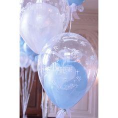 ballon baptême transparent avec un ballon de couleur à lintérieur