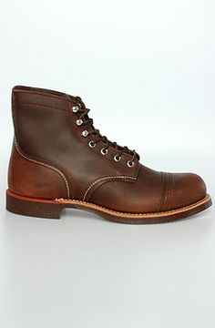 The 8111 Iron Ranger in Amber Harness Leather by Red Wing $280.00