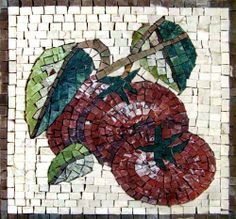 """12x12"""" Marble Mosaic Tomatoes Art Tile Kitchen Decor by Mozaico. $170.00. Completely hand-made. Mesh backing. Timeless artwork that will last a lifetime. Uses and display locations are unlimited!. All natural stones. Mosaics have endless uses and infinite possibilities! They can be used indoors or outdoors, be part of your kitchen, decorate your bathroom and the bottom of your pools, cover walls and ceilings, or serve as frames for mirrors and paintings."""