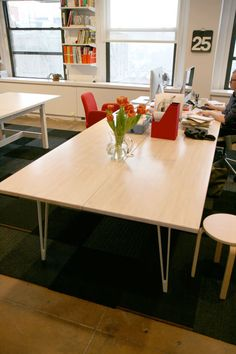 Great DIY Desks with IKEA Countertops and Legs