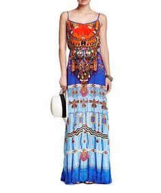 Look what I found on #zulily! Blue Sleeveless Blouson Maxi Dress #zulilyfinds