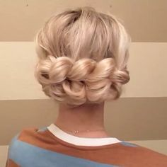 This Pull Through Braid across the back, has been one of my most popular styles…