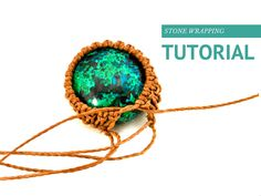 Comprehensive stone wrapping course includes 5 macrame bezel tutorials for your micro-macrame jewelry projects.