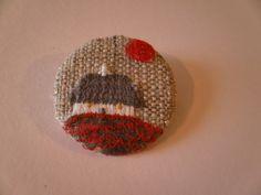 Wee Cottage Textile Brooch £5.50