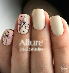 Opting for bright colours or intricate nail art isn't a must anymore. This year, nude nail designs are becoming a trend. Here are some nude nail designs. Nude Nails, Pink Nails, Gel Nails, Nail Studio, Fabulous Nails, Flower Nails, Beautiful Nail Art, Easy Nail Art, Nail Arts