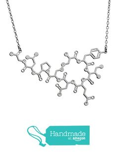 Molecule Necklace Oxytocin Molecule Necklace -Sterling Silver 925 or Plated Over Silver Women Jewelry Science Jewelry Unique Jewelry Love Hormone Royal Jewelry, Fine Jewelry, Women Jewelry, Fashion Jewelry, Unique Jewelry, October Birthstone Necklace, Molecule Necklace, Necklaces With Meaning, Science Jewelry