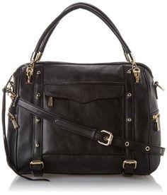 "Rebecca Minkoff Cupid Satchel Handbag,Black,One Size <a href=""http://zgbfm.com>find it here </a>"