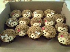 Hedgehog cupcakes.. via syezzey kay- google+