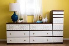 8 Ikea Dresser DIYs So Chic, You'll Think They're Designer Mid-Century Modern Thanks to some clever DIY additions, you would never guess this moody period piece was actually from Ikea!