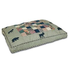 Moose Theme Quilted Dog Bed