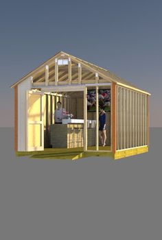 Build Your Backyard Pub Using These Simple To Follow 12x16 Gable Shed Plans And Entertain All