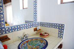 Talavera bathroom