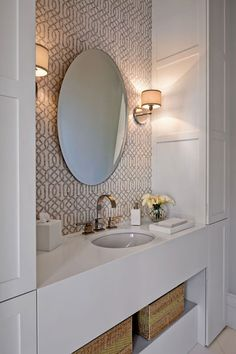 Small Bathroom - Design photos, ideas and inspiration. Amazing gallery of interior design and decorating ideas of Small Bathroom in girl's rooms, bathrooms by elite interior designers - Page 3 Bathroom Window Treatments, Bathroom Windows, Bathroom Renos, White Bathroom, Bathroom Interior, Small Bathroom, Bathroom Wallpaper, Design Bathroom, Modern Bathroom