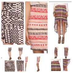 Tribal design fashion trend, Tribal skirts