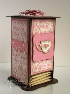 I created this Tea Box for a Heartfelt Creations Design Team project and I thought I would share the tutorial on how to make the box wi...