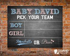 Baseballs or Bows Baseball Theme Gender by JDavidProductions
