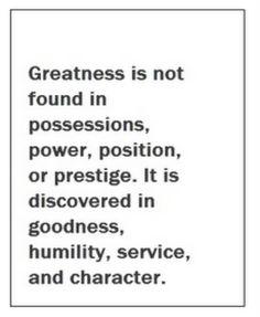 Greatness.