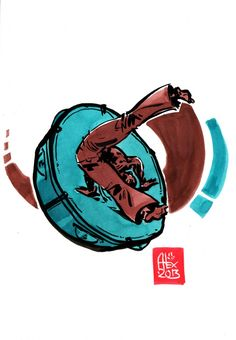 Encres : Capoeira – 494 [ #capoeira #watercolor #illustration]