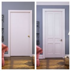 From Builder Grade to TruStile Grade & Old hotel door flush with simulated moulding to a TruStile stile and ...