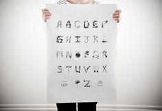 Illustrated plant alphabet poster by Sasha Prood.