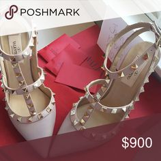Valentino Rockstud Shoes size 37 New with box never worn Valentino Shoes Heels
