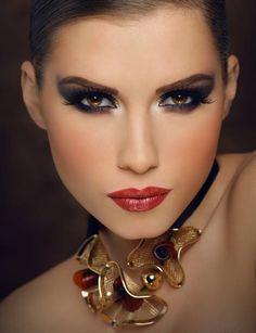 Seduce by applying dark eye shadow to your crease, giving them extra depth.