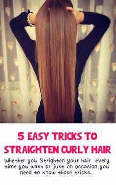 5 Easy Tricks to Straighten Curly Hair #hair_straightening
