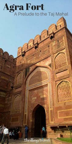 Discover a fortress of sandstone and marble - where some popular chapters of Indian History were written. A visit to the Red Fort or the Agra Fort is actually a prequel to visiting the Taj Mahal. #AgraFort #Agra #India #Travel #Heritage #ThrillingTravel #UttarPradesh