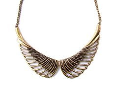 Wings Collar necklace by Darya Davidoff.