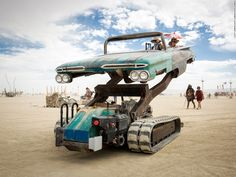 """""""Artist Bruce Tomb created this startling mutant vehicle by mating an…"""