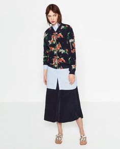 Image 1 of PRINTED BOMBER JACKET from Zara