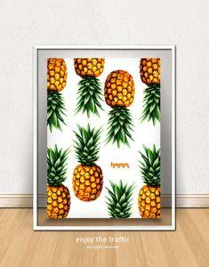 Poster Abacaxi - Quadro decorativo