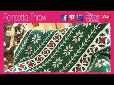 How To Crochet A Poinsettia Throw..Mikey's tutorial.. find the written pattern here: http://www.redheart.com/free-patterns/pattern-correction-poinsettia-throw
