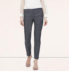 Striped Denim Riviera Pants in Marisa Fit