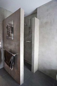 Mooi inspiratie beeld voor onze betonlook Wand afwerkingmaterialen betoncire…