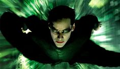 The Matrix - Neo Flying Into Action