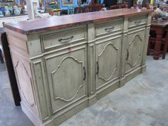 Sabby Chic Buffet by Barrio Antiguo Designs in Houston Texas Credenza Sideboard, Tv Sideboard, Sideboard Console, Buffet Table, Home Decor, Shabby Chic Buffet, Shabby Chic Buffet Table, Shabby Chic, Media Console