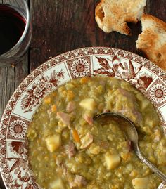 Split Pea Soup with Red Wine and Ham